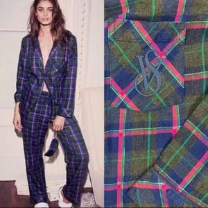 VICTORIA'S SECRET Dreamer Plaid Pajama Set Size S